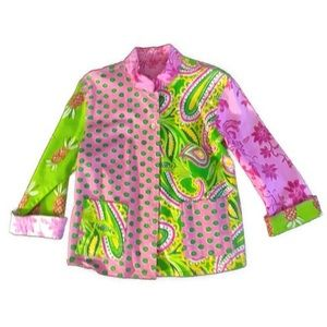 Girls Pink Paisley & Pineapple Green Lilly Jacket